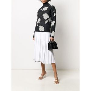 Theory Floral-Patterned Alpaca-Blend Sweater